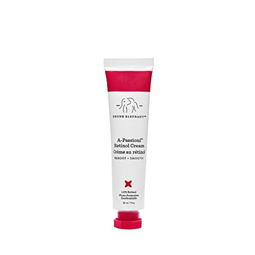 Drunk Elephant A-Passioni Retinol Anti-Wrinkle Cream. Brightening, Restorative and Vegan Face Cream with Vitamin F (1 ounce)