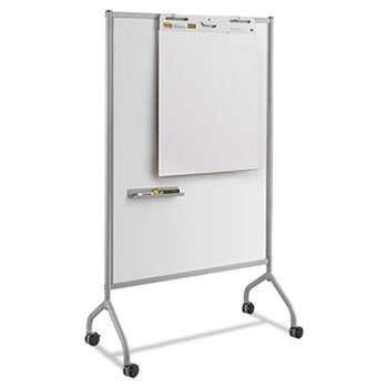 Impromptu Magnetic Whiteboard Collaboration Screen, 42w x 24d x 72h, Gray by Safco