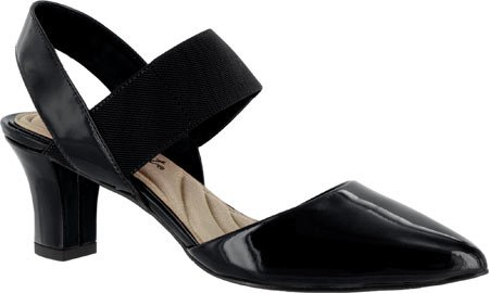 Easy Street Women's Vibrant Dress Pump, Black Patent, 7.5 M US