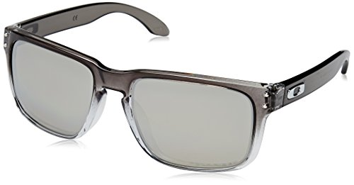 Oakley Men's OO9102 Holbrook Square Sunglasses, Dark Ink Fade/Chrome Iridium Polarized, 57 mm