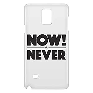 Loud Universe Galaxy Note 4 Now Or Never Print 3D Wrap Around Case - White
