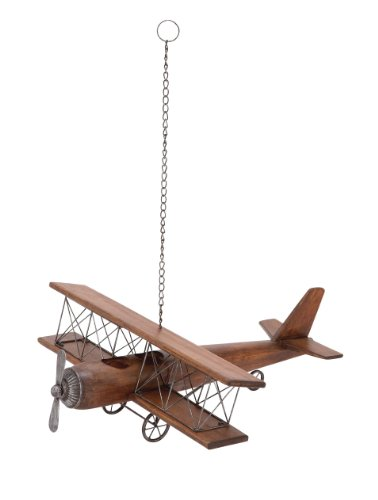 Deco 79 92647 Wood & Metal Airplane