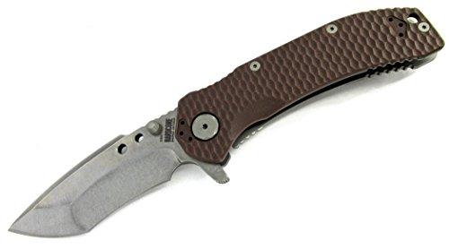 Hardcore Hardware Tactical Flipper Folder Recurve Knife MILF-01 Gen 2 DE/Stonewashed