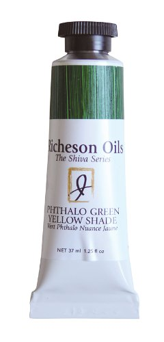 Jack Richeson Artist Oil Colors, 37ml, Phthalo Green Yellow Shade