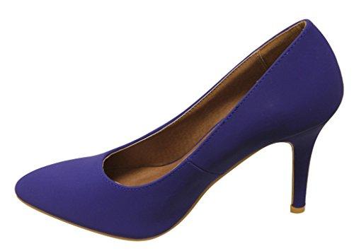 Bella Marie Ada-11 Donna Nabuk Punta A Punta Tacco Stiletto Ufficio Pompe Blu