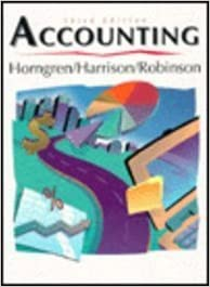 Book Accounting (Prentice Hall Series in Accounting) 3rd Edition by Horngren, Charles T.; Hongren, Charles T.; Robinson, Michael published by Prentice Hall