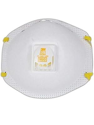 3M 8511 Disposable Series N95 Cool Flow Respirator (10/Box)