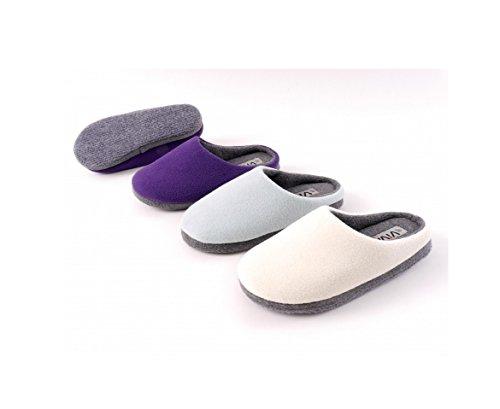 Hausschuh Damenschuh Pantoffel 36-42 Hellblau creme lila Hellblau