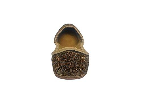 Stap N Stijl Indiase Punjabi Jutti Khussa Schoen Indiase Schoenen Etnische Schoenen Kralen Schoenen