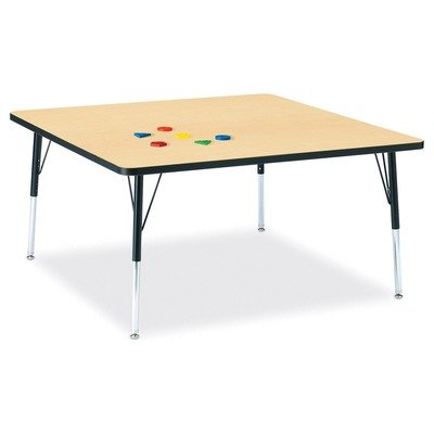 Jonti-Craft Ridgeline Kydz Square Activity Table (24-31 in. H - Yellow)