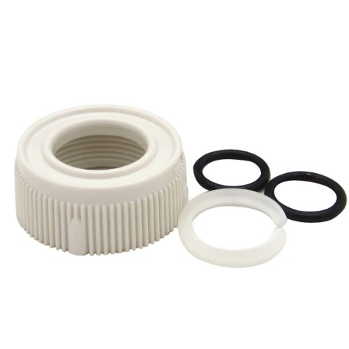 Dura Faucet (DF-RK510-WT) RV Faucet Spout Nut and Rings Replacement Kit - White - For Dura Faucet Branded Faucets Only - Rv Corner Sink