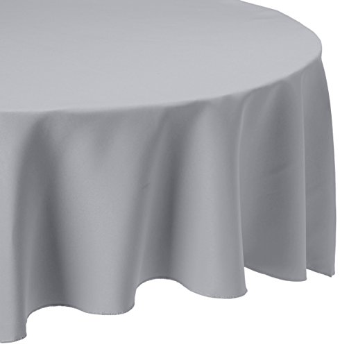 Cheapest Party Supplies (LinenTablecloth 108-Inch Round Polyester Tablecloth Silver)