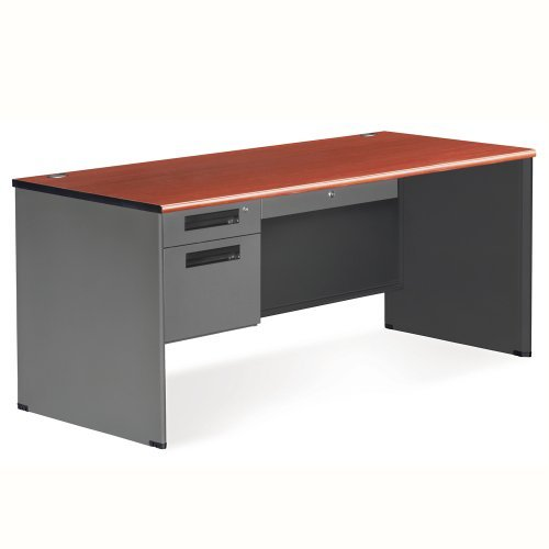 OFM Executive Series Single Pedestal Panel End Desk - Durable Locking Utility Desk, 29.25