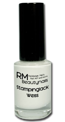 Stampinglack Weiss 4ml Stamping Lack Nagellack Nail Polish RM Beautynails