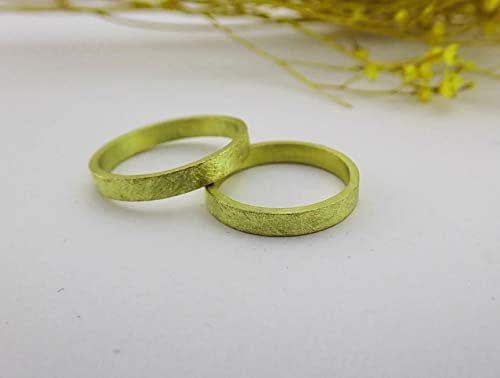 Alianzas de oro, anillos de boda con textura.: Amazon.es: Handmade