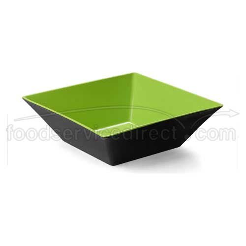 - Brasilia ML-249-G/BK Square Bowl, 12.8 quart, Green/Black (Pack of 3)