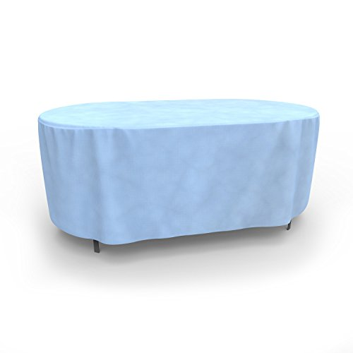Budge All-Seasons Oval Patio Table Cover, Small (Blue) ()