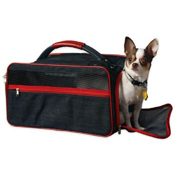 Bark N Bag Organic Black Denim Small Animal Pet Carrier Airline Approved Size: 16w X 9h X 9″d, My Pet Supplies