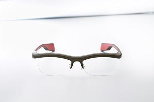 Namae-Megane Inc. FUN'IKI Glasses (Gray/Red)