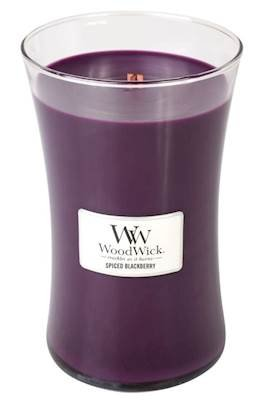 WoodWick Spiced Blackberry 21.5 ounce Large Jar Candle Burns 180 Hours 93078.0