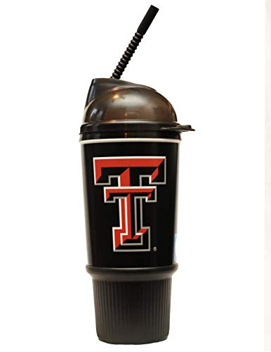 (Texas Tech Dome Lid with Straw 32 oz Tumbler Mug with Lid by Whirley Drink Works Perfect for Travel and Sports Events On The Go, Dual Walled For Better Insulation, Good For Cooling Or Heating)