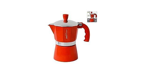 girm® – hx915736 Cafetera Roja – 1 taza – Moka colorata para café ...