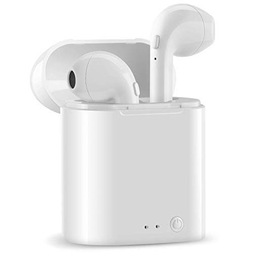 Wireless Headphones, HISILI Bluetooth Earbuds, Wireless Headsets Stereo in-Ear Earpieces with 2 Built-in Mic Earphone for Smartphones and Tablets