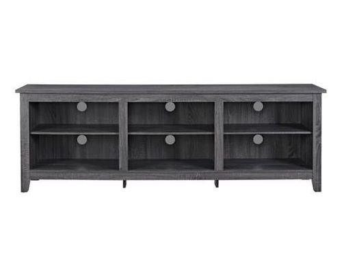 """Walker Edison Furniture Company Wood TV Stand for TVs up to 70""""   High-Grade MDF and Durable Laminate (Espresso)"""