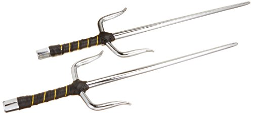 BladesUSA 2309C Octagon Metal Martial Arts Sai, Set of Two, 15-Inch Length