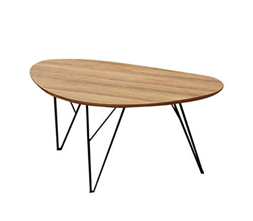 LSLMCS Shops Snack Table Oval Coffee Table, Coffee Table Living Room Creative Simple Wooden Negotiating Table Bedroom Size Number Combination Notebook Stand Reading Holder (Color : C-604038CM)