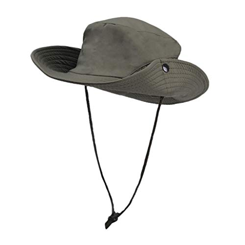 Sun Hat for Men Outdoors Large Brimmed Fishing Hats Outdoor Sun Protection UV Protection Breathable Sun Hat Army Green