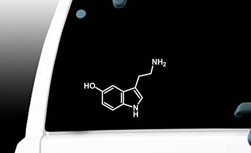 Serotonin 5 Hydroxytryptamine Molecule Sticker Macbook product image