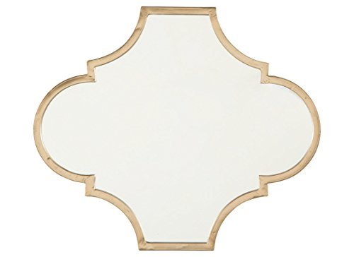 Signature Design by Ashley A8010155 Callie Accent Mirror, Gold Finish ()