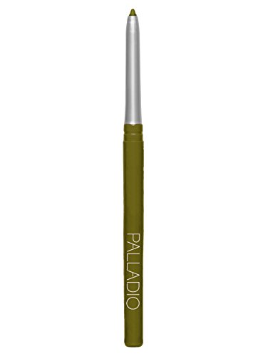 Palladio Retractable Waterproof Eyeliner, Olive, Richly Pigmented and Creamy, Slim Twist Up Pencil Eyeliner, No Smudge Formula with Long Lasting Application, No Eyeliner Sharpener Required ()