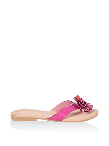 HH MADE IN ITALY F SD002_FUXIA PELLE SANDALO BASSO