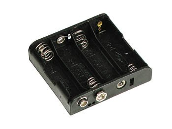 Philmore Battery Holder for (4) AA with Standard Snap Connector : BH341