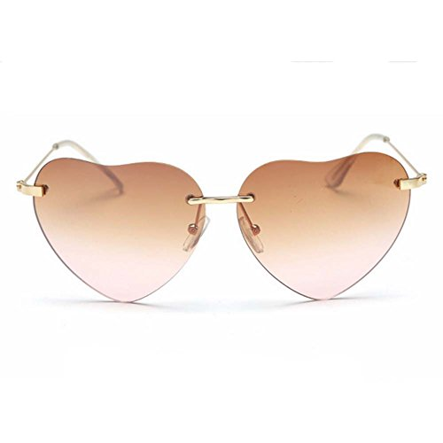 SummerDay Womens Retro Love Ocean Heart Shapes - Online Sunglasses Ucb