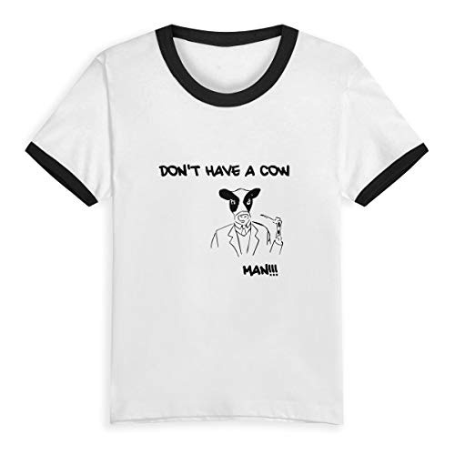 Unisex Baby Don't Have A Cow Man O Neck Toddler's Short Sleeve Baseball T Shirt for 2-6 Boys Girls -