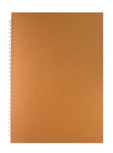 Pink Pig A3 Posh Silk Work Gerbil Off White Paper Sketchbook - Orange (Posh Pig)