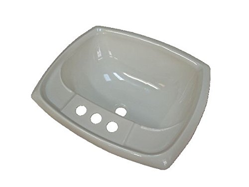 17'' x 20'' White Rectangular Lavatory Sink for Mobile Homes Includes Drain by Mobile Home Parts