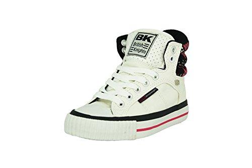 British Knights ATOLL CHD Weiss Rosa Kinder Sneakers Schuhe Neu