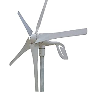 400W Wind TurbineWind/Turbine Generator & Waterproof Wind Controller 12V/24V 5 Blades Low Wind Speed Starting Top Rated NSK Bearings Garden Street Lights Wind Turbines (12V)
