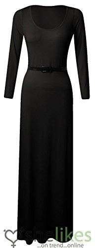 Buy belted black skater dress - 9