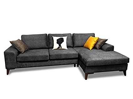Amazon.com: Mare Collection Halley Modern L Shaped Sectional Sofa ...