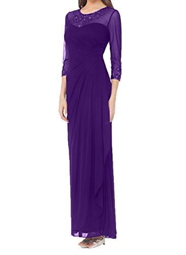 Elegant Braut mia Abendkleider Dunkel Lila Langarm Etuikleider 3 Brautmutterkleider Neu Ballkleider Festlichkleider La 4 2018 mit FwB1Fq