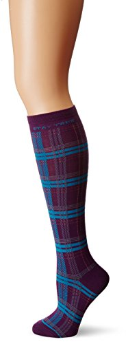 Life is good Women's Knee Plaid Sock , One Size