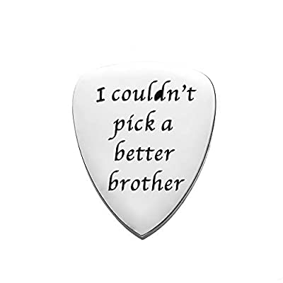 Guitar Picks Gifts for Him, Stainless Steel Guitar Pick Unique Birthday Gift for Musician Men