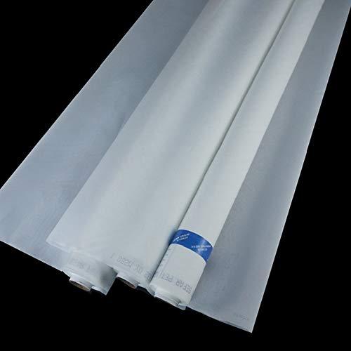 160Mesh/64T, 63inch(1.65m) Width, 3Yards(2.7m) Length, Silk Screen Printing Mesh Fabric, One Piece Silkscreen, White, for Screen Printing Machine, Wood or Aluminium Frame (160M/64T)