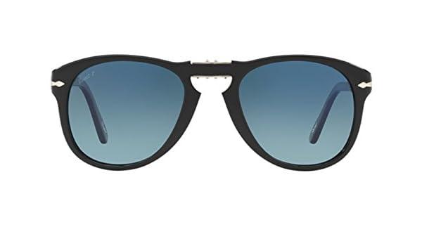 4f3c3a808d6 Amazon.com  Persol PO0714SM Steve McQueen sunglasses. Size 54. Color Black ( 95 S3). Polarized lenses.  Clothing