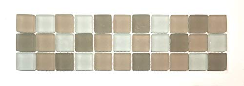 Palm Beach Glass 3x12 Frosted Decorative Border Wall Floor Tile Backsplash